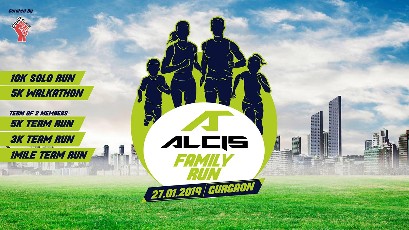 Alcis Family Run, Sunday 27 January 2019, Gurugram, Coach Ravinder Gurugram